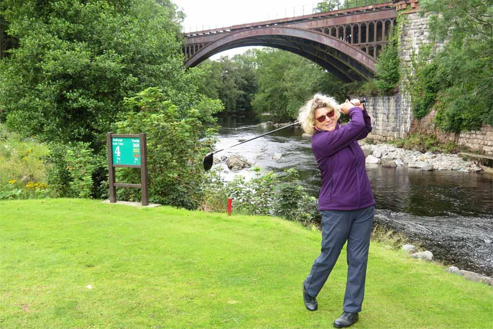 The fourth hole goes alongside the River Rawthey